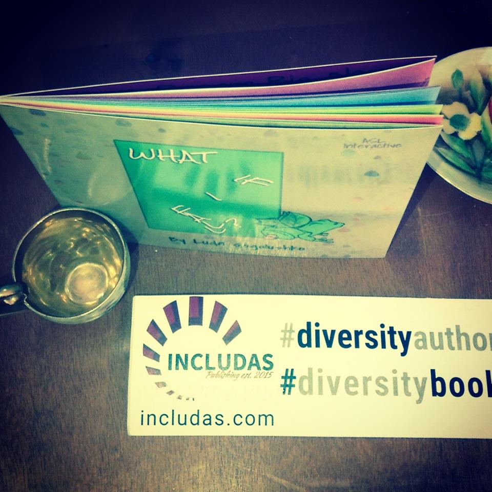 top view of What If I Fall? book and diversity braille sticker.