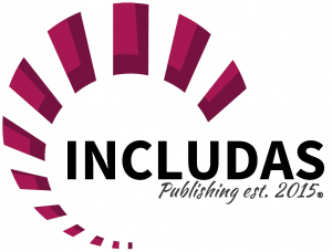 INCLUDAS publishing logo with spiral.