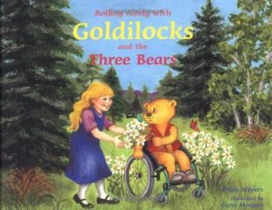 Rolling Along with Goldilocks and the Three Bears book cover.
