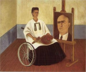 frida kahlo in wheelchair.
