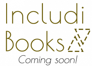 Includi Books logo. coming soon!