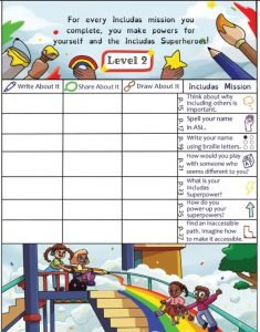 Level 2 sheet from includas journal.