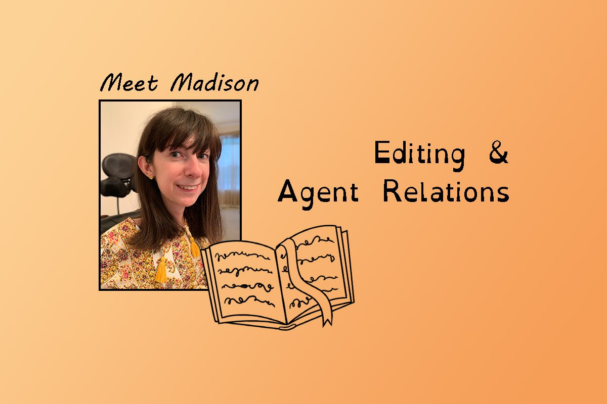 """image of Madison and text """"Meet Madison"""" and """"Editing & agent relations""""."""