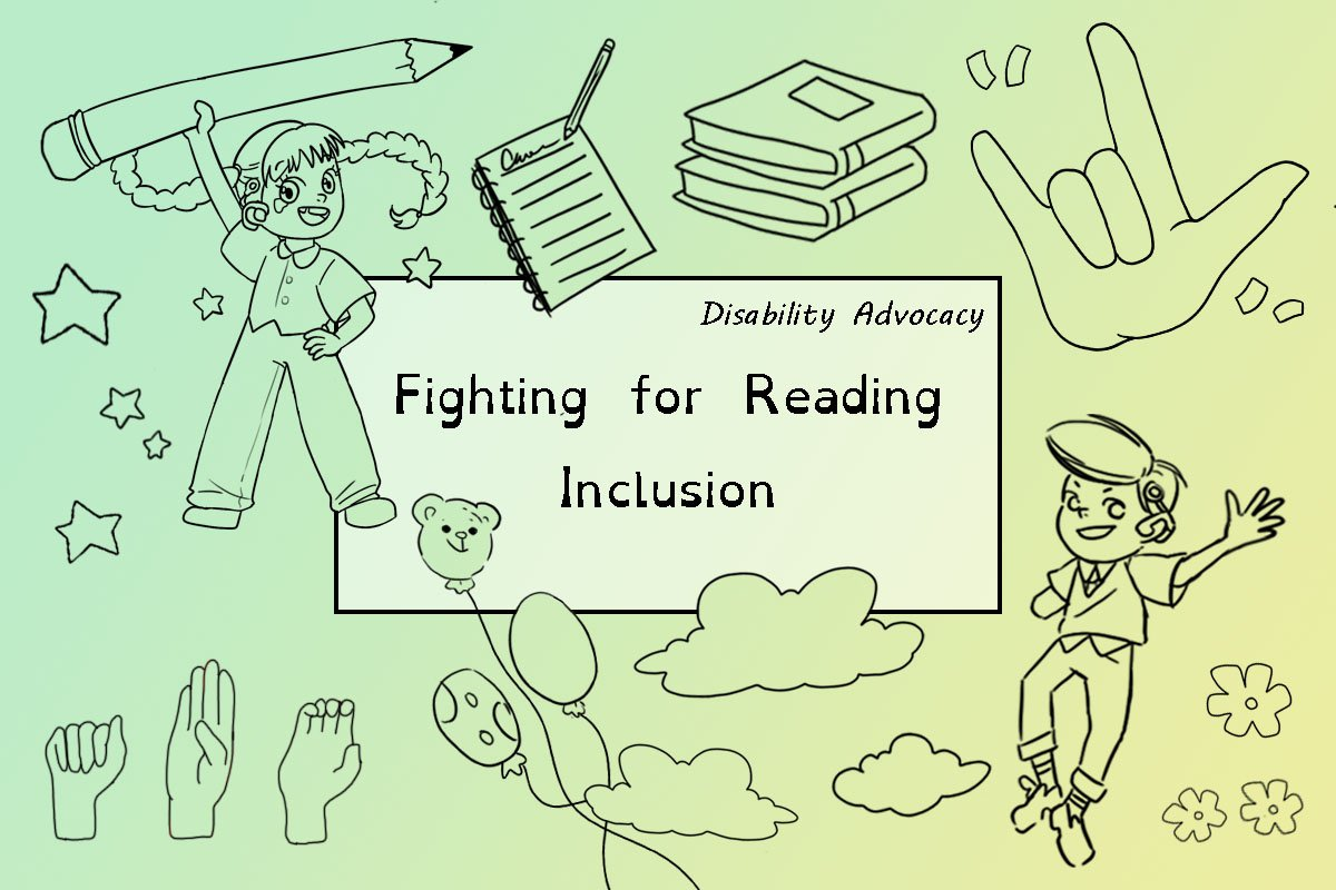 fighting for reading inclusion blog post cover.