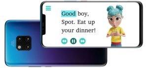 phone image of storysign app.