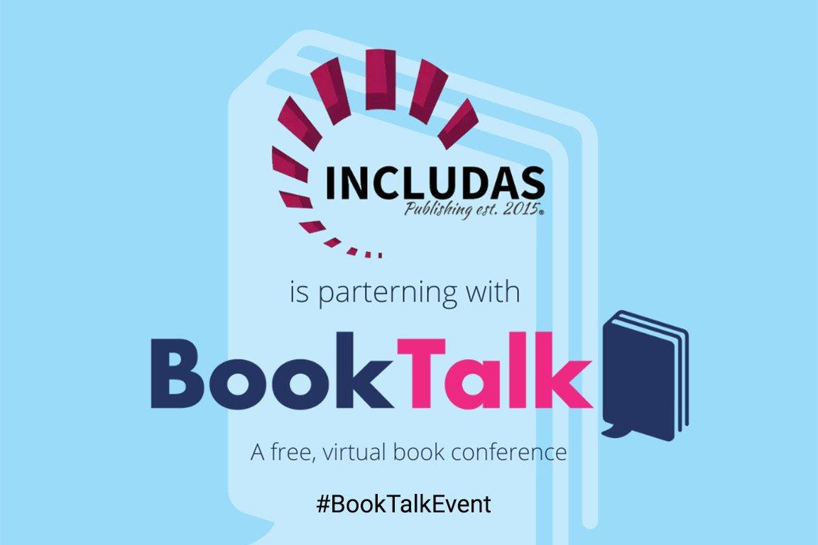 booktalk event and includas partnership.