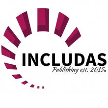 INCLUDAS magenta spiral logo.